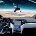 Giga view ModelX at Tesla Gigafactory