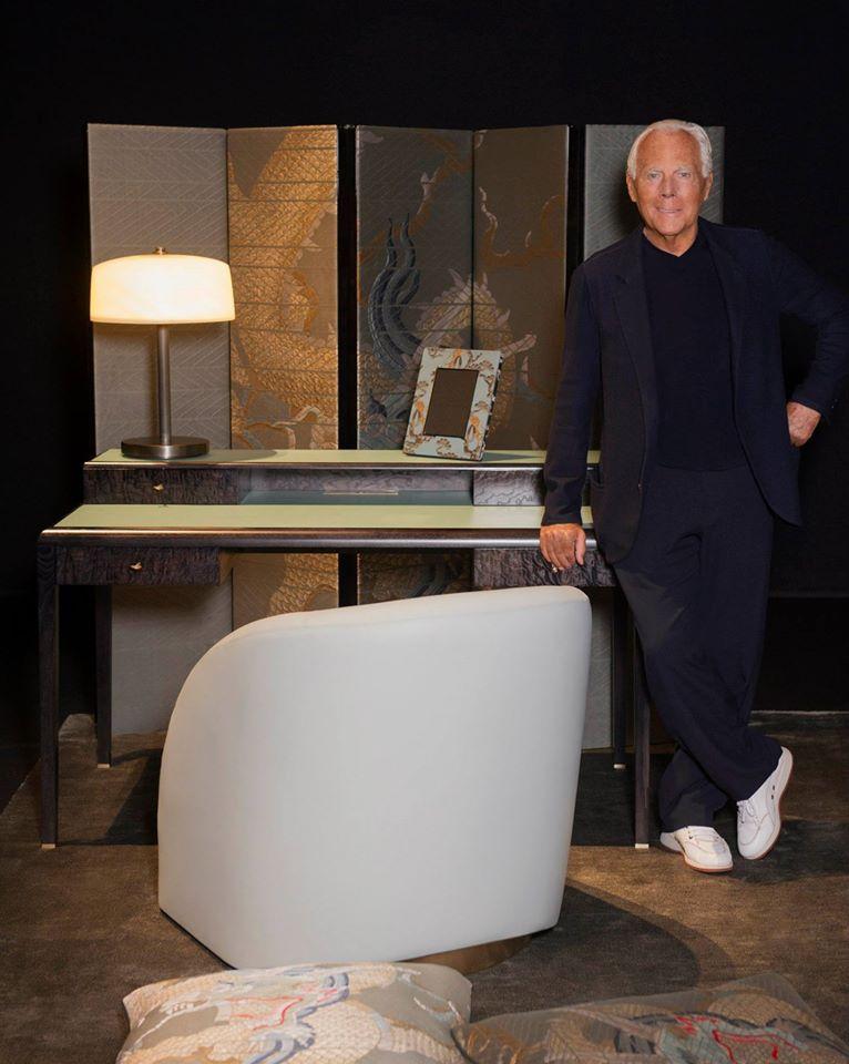 Giorgio Armani at the Interior Design Studio's 'The Art of Living' exhibition on display at the Armani-Teatro for Salone del Mobile 2015--