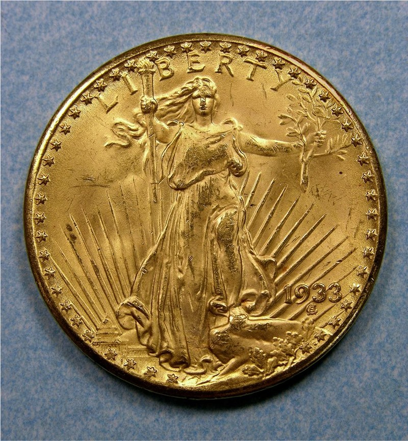 Gold Double Eagle coins were supposed to be melted down and sent to Fort Knox for bullion
