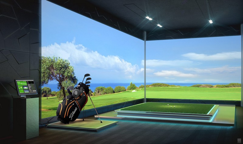 Golf Simulator at The Estates at Acqualina Miami 2luxury2