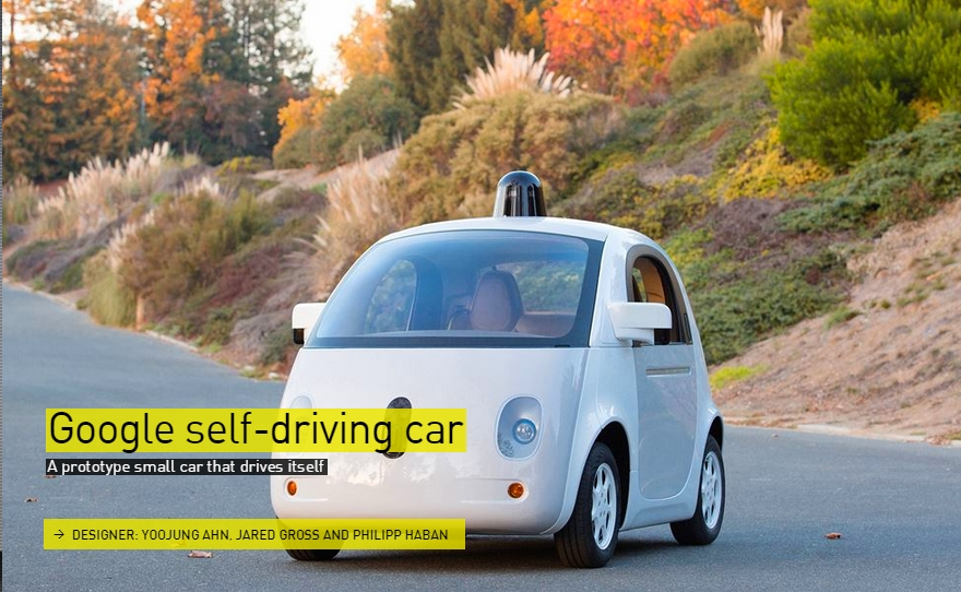 Google self-driving car - The Designs of the Year 2015 nominees @ Design Museum London
