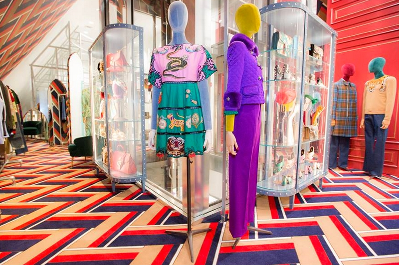 Gucci's new permanent shop-in-shop at Dover Street Market in New York City