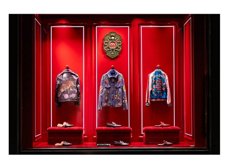 Gucci DIY service in the Gucci Milan Montenapoleone store