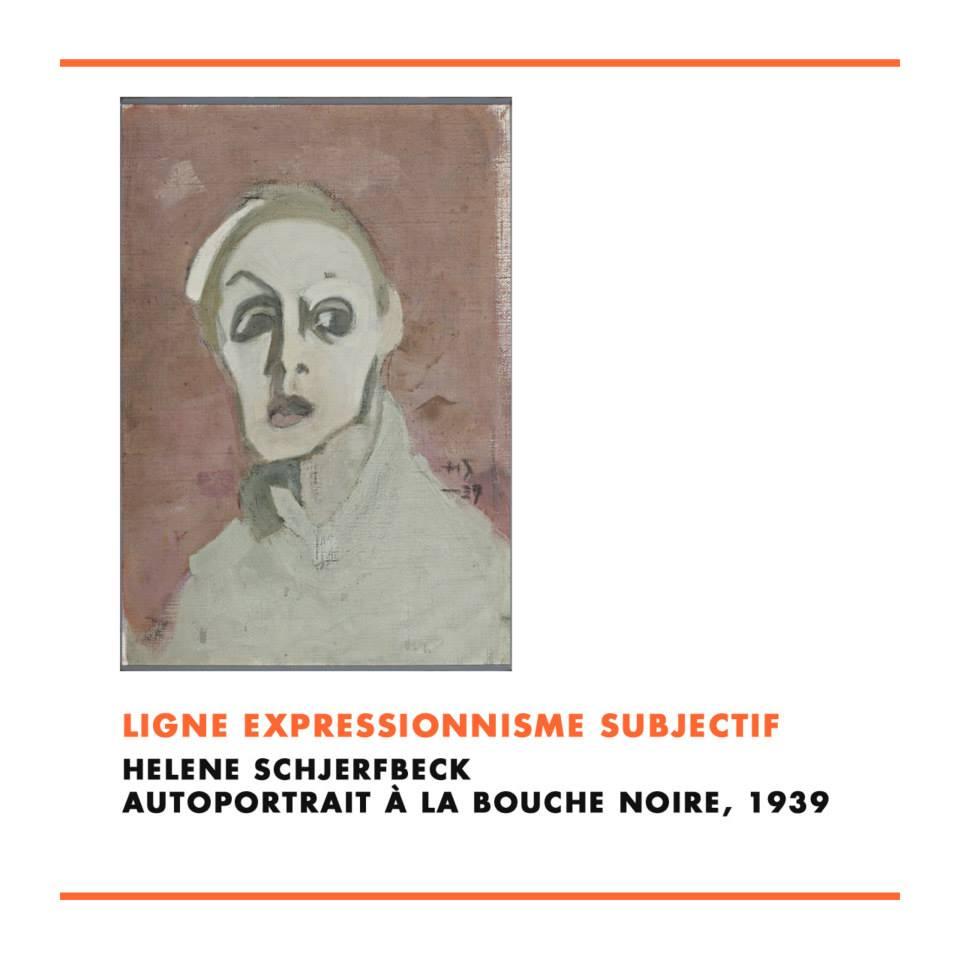 Hélène Schjerfbeck, Autoportrait à la bouche noire, 1939