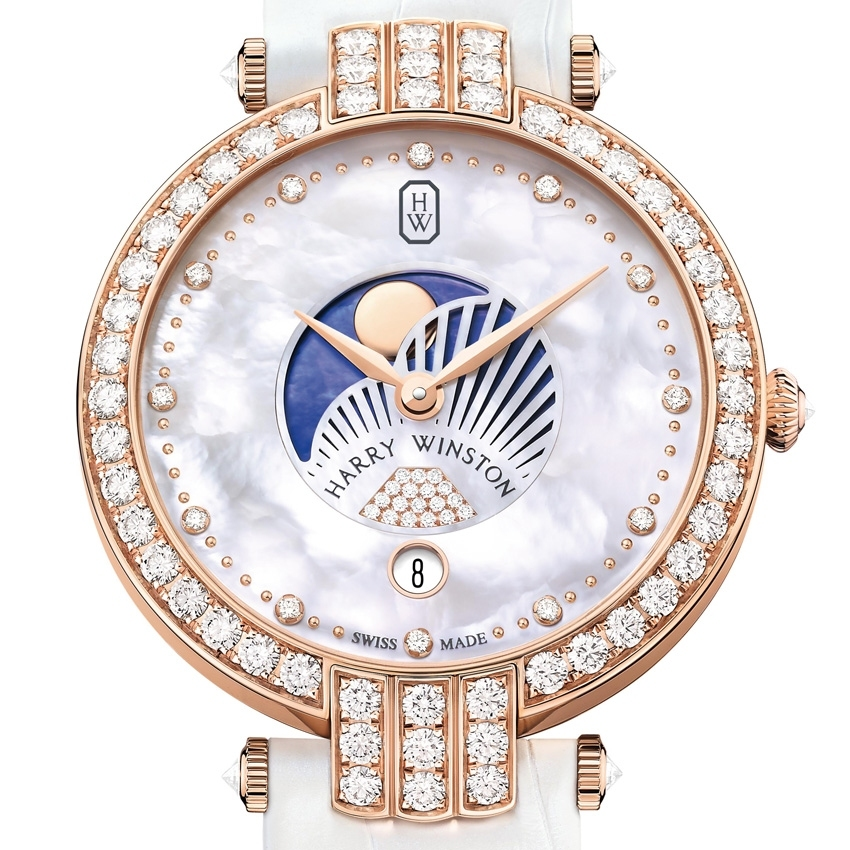 HARRY WINSTON PREMIER MOON PHASE 36 MM watch-
