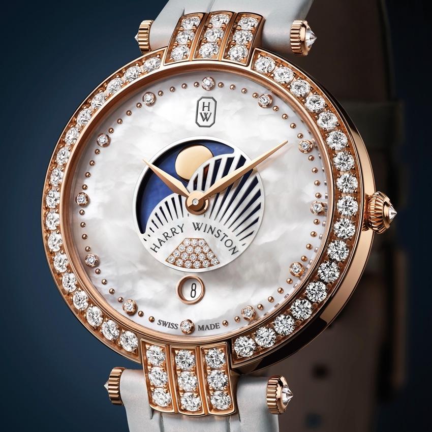 HARRY WINSTON PREMIER MOON PHASE 36 MM watch 2016-model