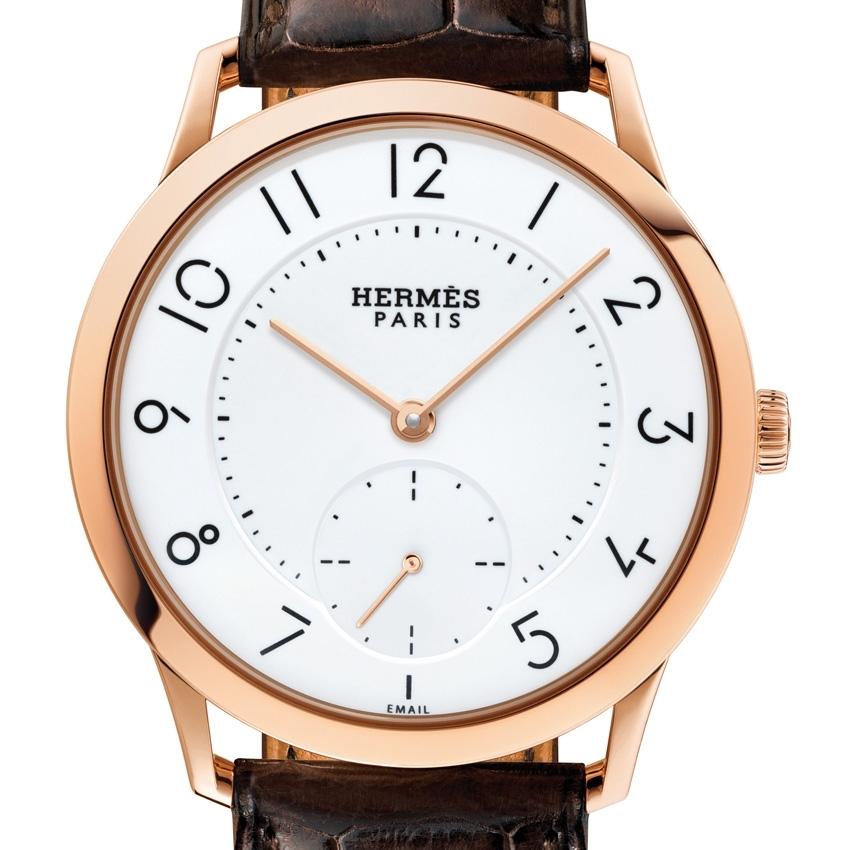 HERMES Slim d'Hermès Email Grand Feu watch -