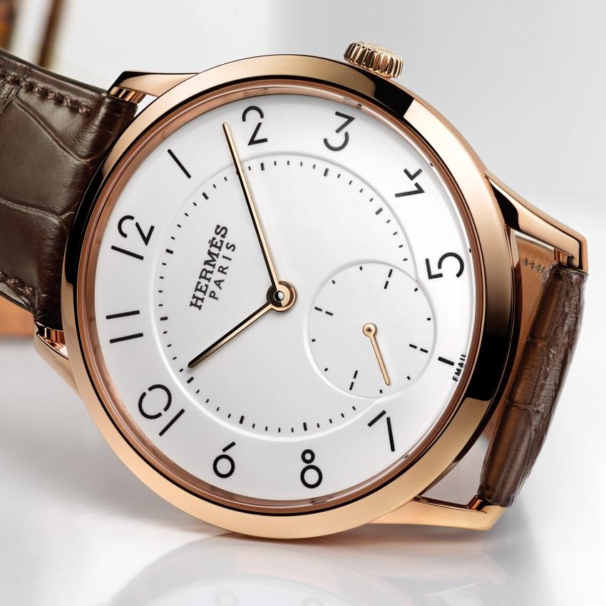 HERMES Slim d'Hermès Email Grand Feu watch