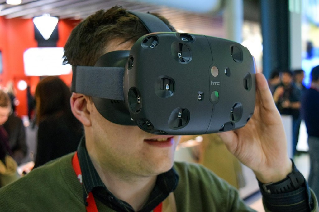 "HTC Vive virtual reality - Best of Show -2015 ""Top Tech of Mobile World Congress"" Award Winners"