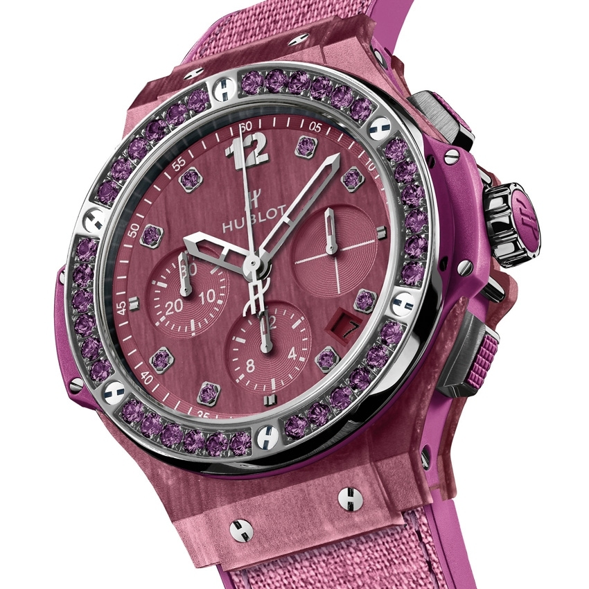 HUBLOT Big Bang Tutti Frutti Linen watch pink