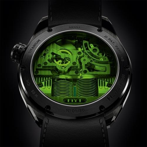 HYT Skull Green Eye watch - Baselworld 2015-bacj