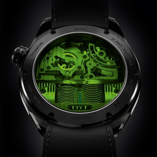 HYT Skull Green Eye watch - Baselworld 2015-bacj