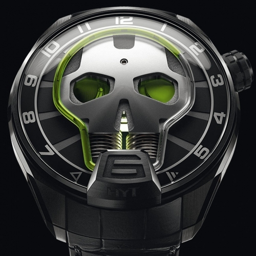 HYT Skull Green Eye watch - Baselworld 2015