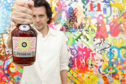 Limited edition glow-in-the-dark Hennessy label by New York Artist Ryan McGinness