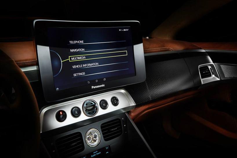 Henrik Fisker's Aston Martin Vanquish-based Thunderbolt concept @ 2015 Amelia Island - interiro
