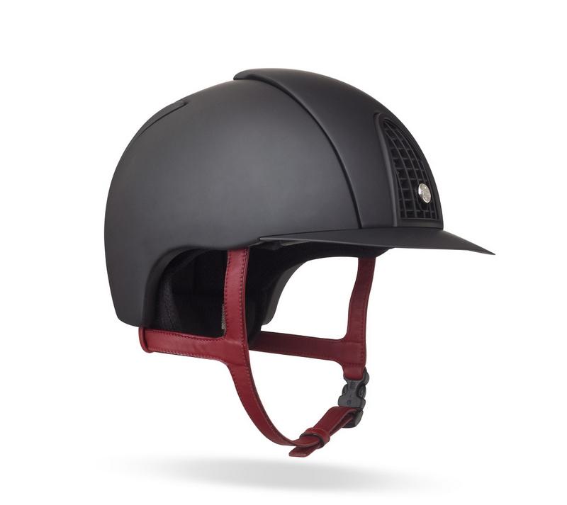 Hermes equestrian helmet in black polycarbonate