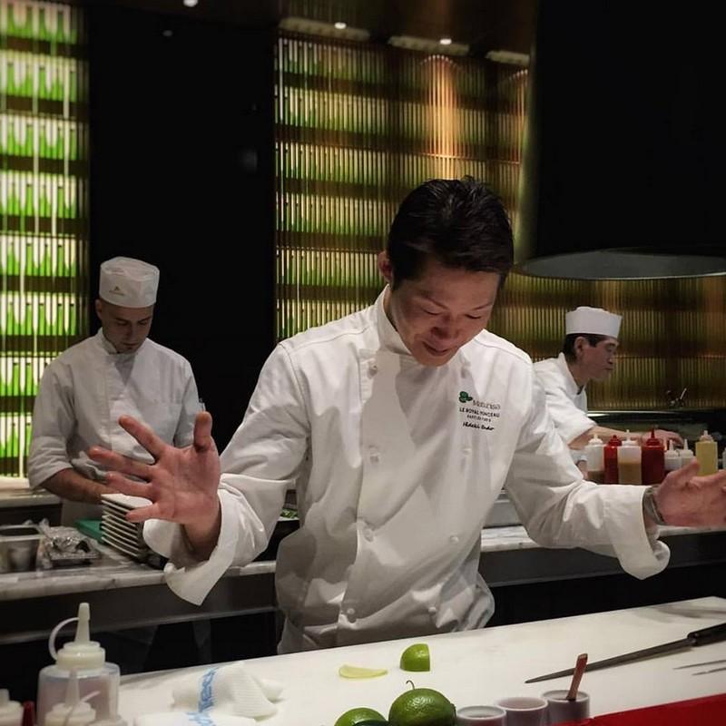 Hideki Endo, chef exécutif du restaurant Matsuhisa Paris