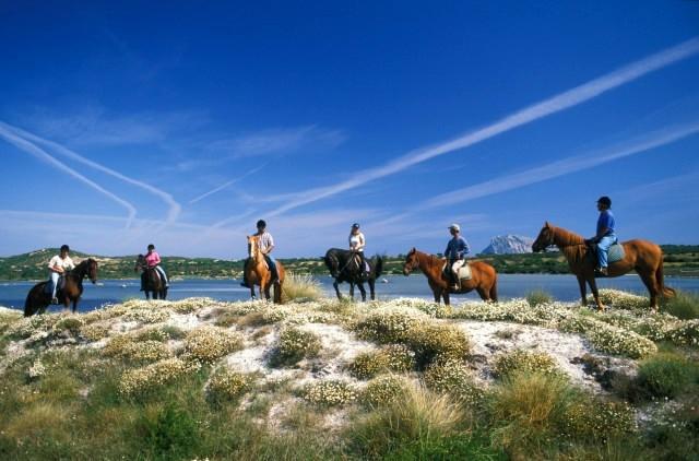 Horse riding on La Cinta Beach Sardinia