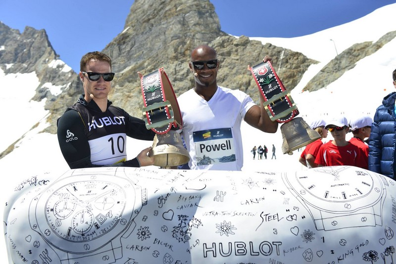 Hublot Athletissima 2015 - A thrilling 100 m on the Top of Europe-Asafa Powell- dario cologna