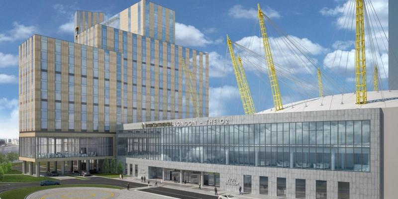 InterContinental hotel in London - The O2 hotel facade