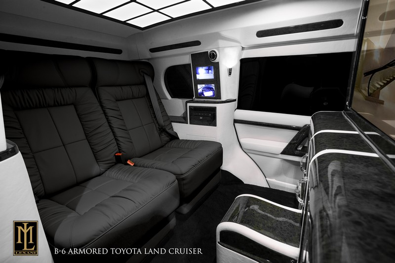 Interior of the NOIR, an armored and luxurious Toyota Land Cruiser Conversion by Lexani