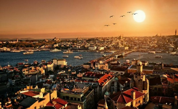 Istambul at sunset