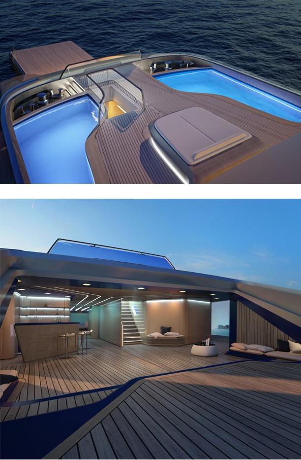 Italian mega yacht Ottancinque by Pinifarina debuts at Monaco Yacht Show 2015