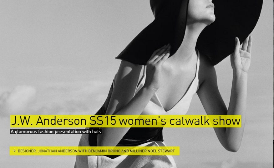 J.W. Anderson SS15 women's catwalk show -Fashion- The Designs of the Year 2015 nominees @ Design Museum London