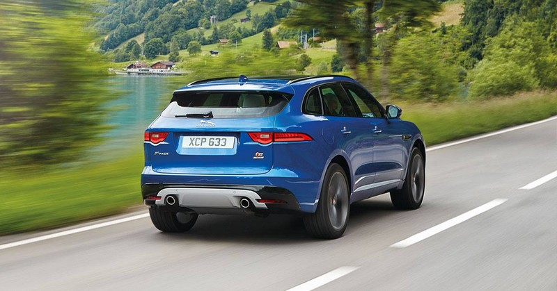 Jaguar Fpace on the road