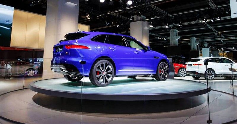 Jaguar - the all-new #FPACE takes pride of place at the Frankfurt Motor Show