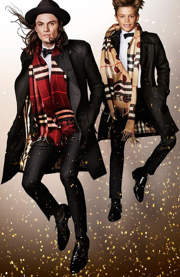 James Bay with Romeo Beckham photographed for the Burberry festive campaign