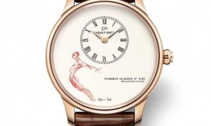 Jaquet Droz – Petite Heure Minute watches with illustrations by Stéphanie Barba 2014