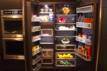 Luxury inside and out obsidian luxury refrigerators by for Obsidian interior refrigerator