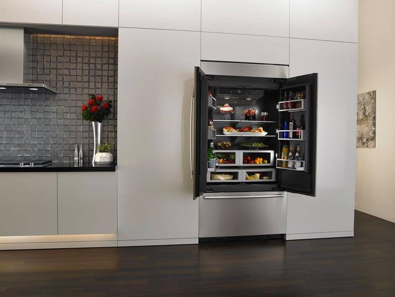 Jenn-Air refrigerator with Obsidian interior
