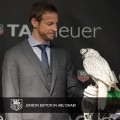 Jenson Button dance with falcons