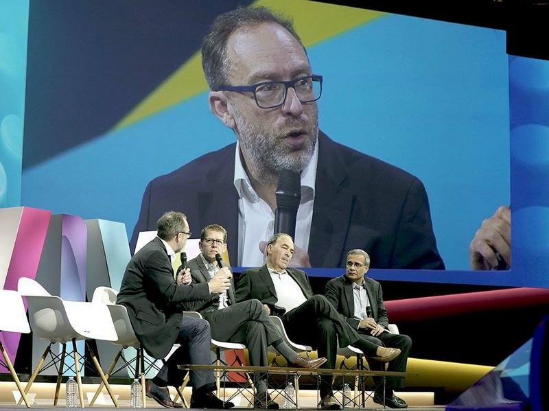 Jimmy Wales, Jay Carney, Joe Schoendorf & Rishad Tobaccowala - vivatech 2016 - 2luxury2