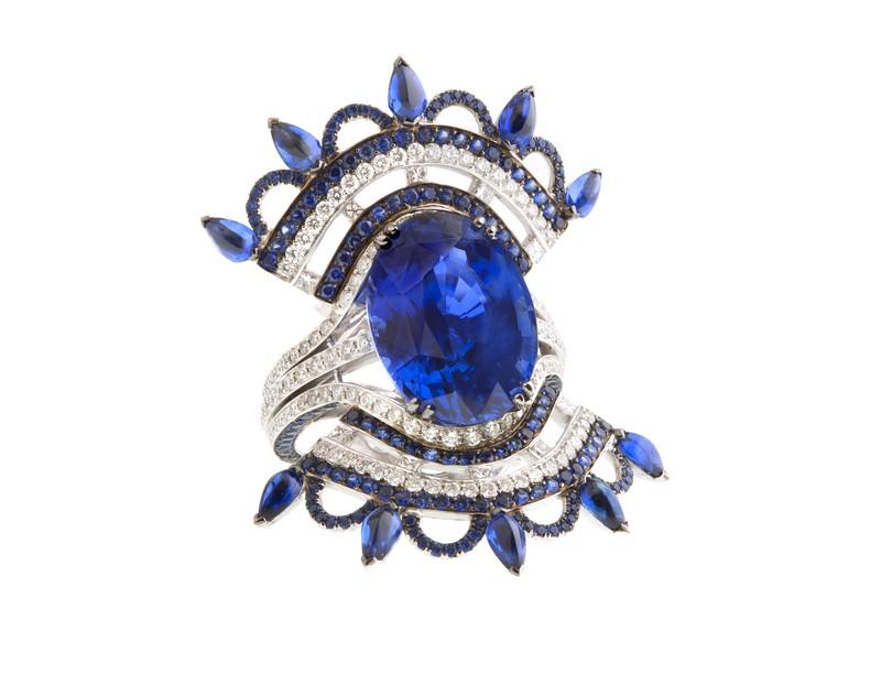 John Rubel- Bleu Carmen bague- ring