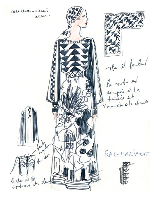 KARL LAGERFELD MODEMETHODE exhibition 2015 Bonn-sketches 2