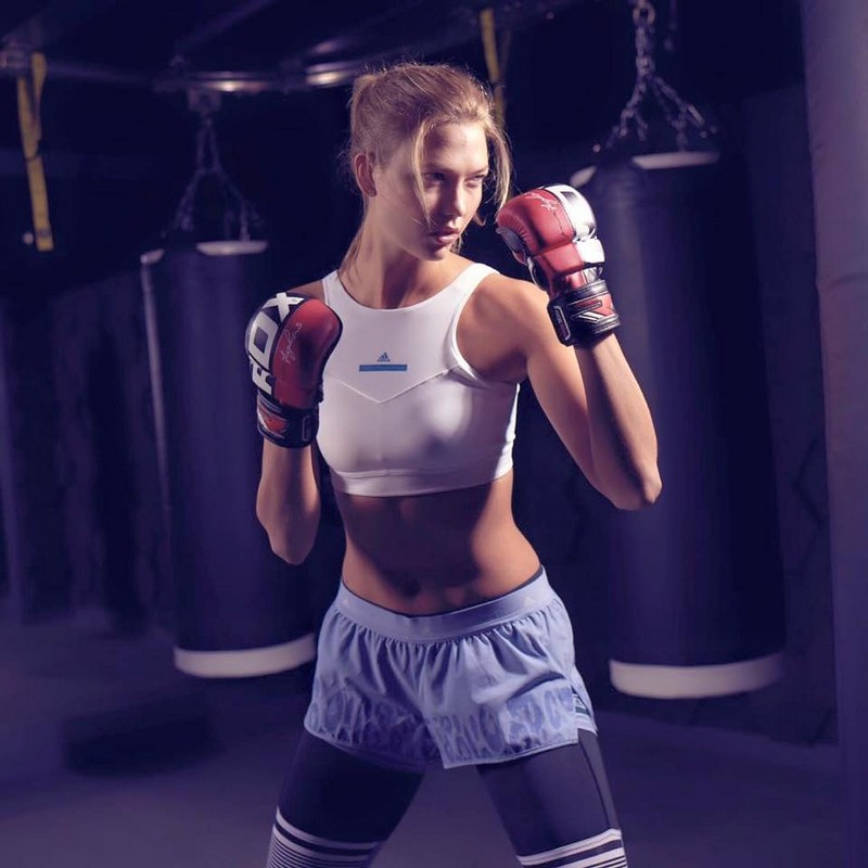 Karlie Kloss as she joins the adidas Women by Stella McCartney team