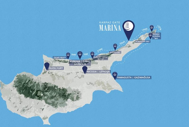 Karpaz Gate MarinaNorth Cyprus Map