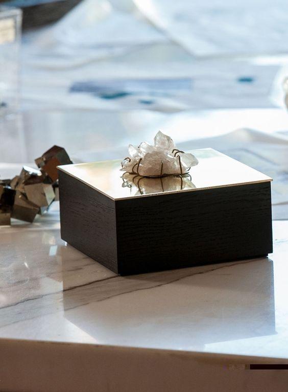 Kelly Wearstler For Crème De La Mer Vanity Box-Kelly Wearstler's latest crystal-capped objet d'art for Genaissance de la Mer