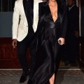 Kim Kardashian in vintage Pierre Balmain dress