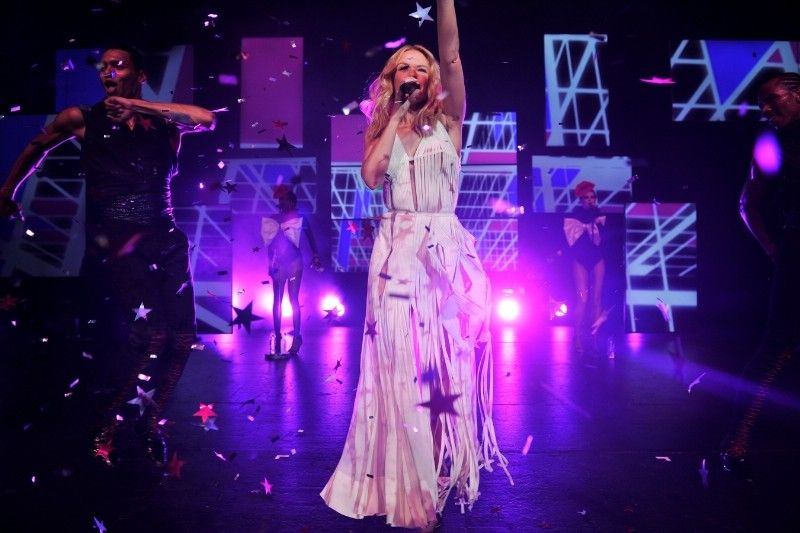 Kylie Minogue performs at the Lancome WOW Party