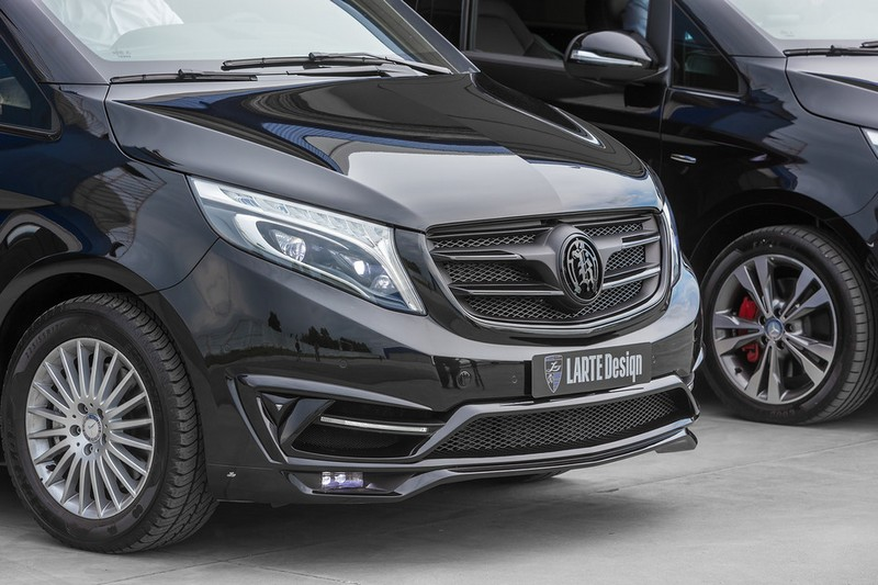 LARTE Black Crystal V-Class-2016 model - Larte Design tuning package - Domodedovo Airport campaign