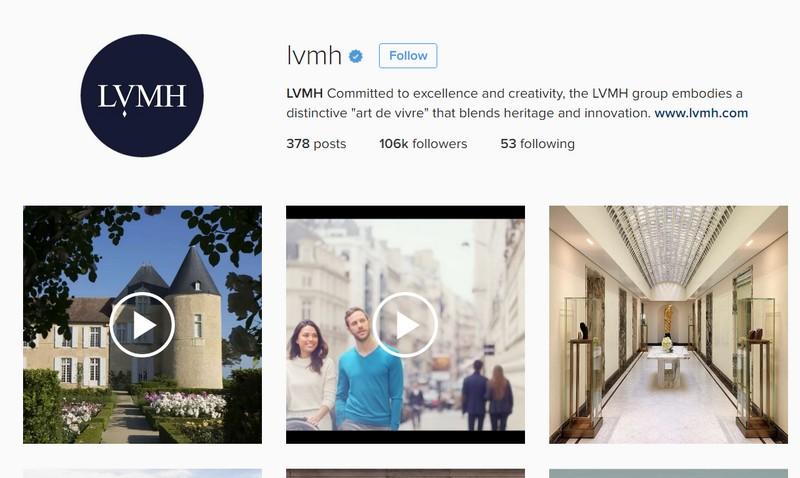 LVMH instagram