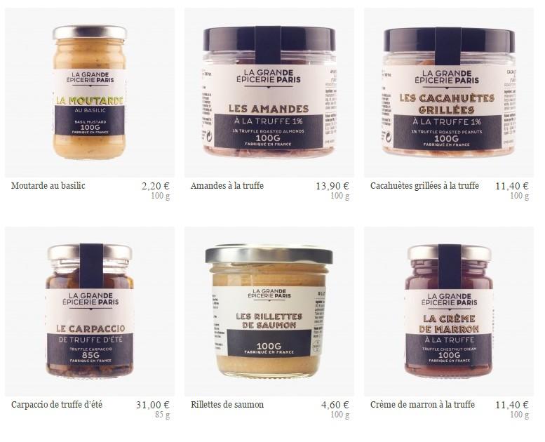 La Grande Epicerie de Paris - some products