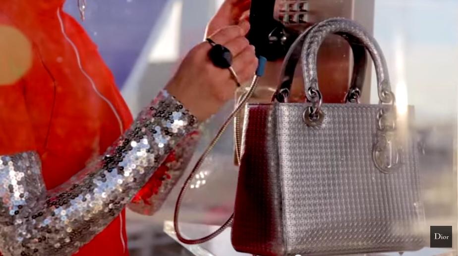 Lady Dior by Peter Lindbergh 2015 ad campaign-Marion Cotillard metallique