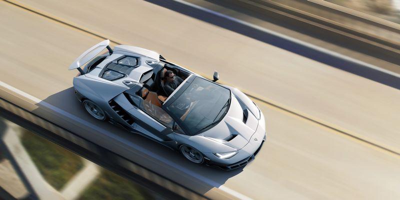Lamborghini debuts Centenario Roadster in California, USA-2016-2luxury2com drone view