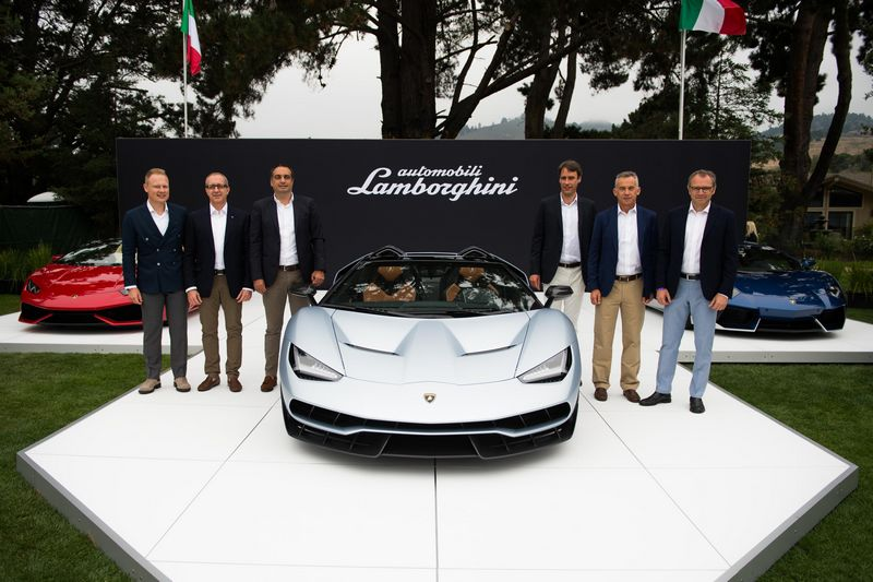 Lamborghini debuts Centenario Roadster in California, USA-2016