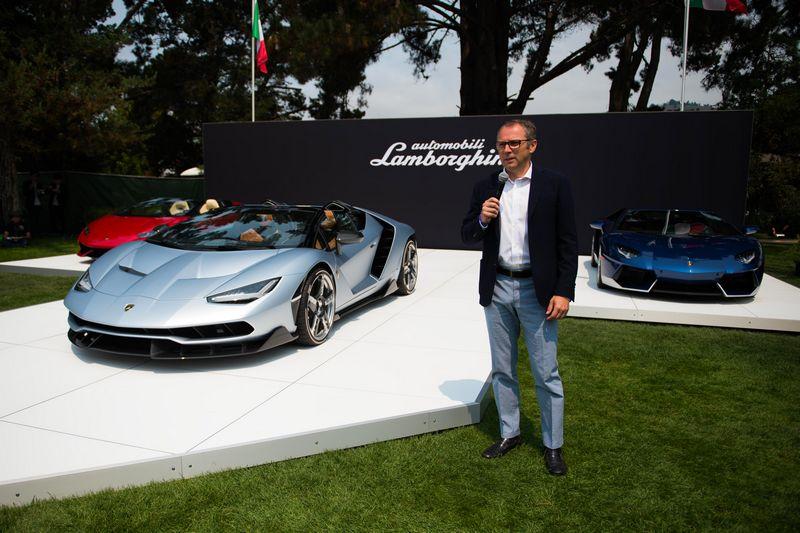 Lamborghini debuts Centenario Roadster in California, USA